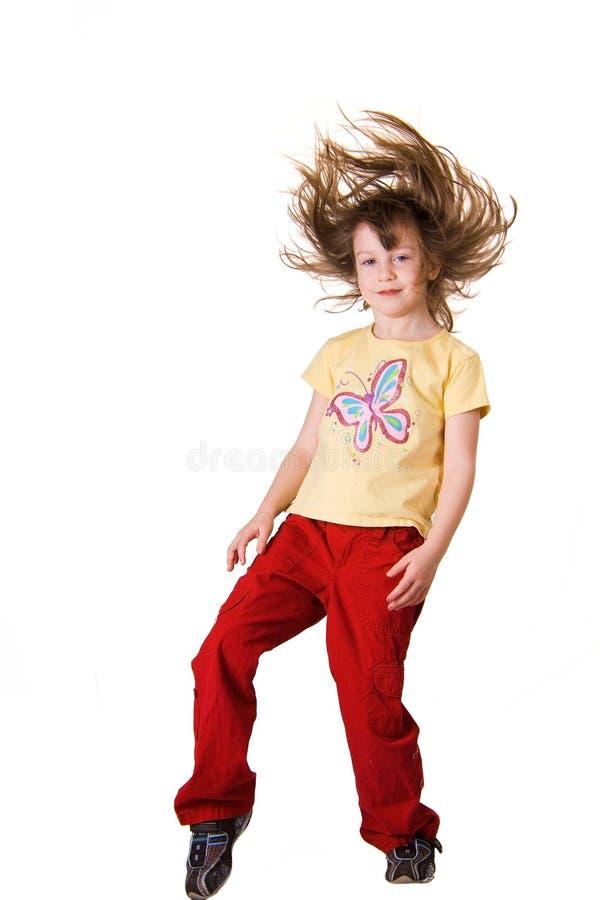 Mädchen mit Haarflugwesen stockfotografie