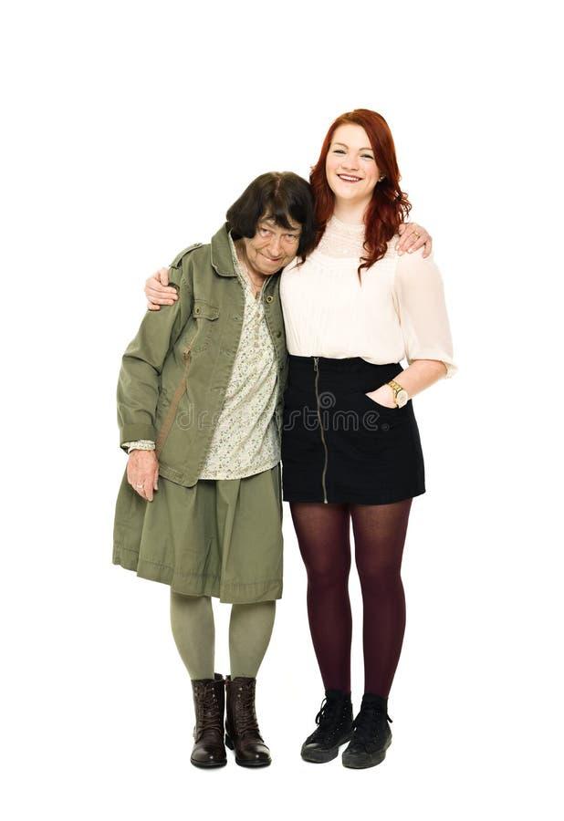 Mädchen Mit Ihrer Großmutter Stockfotografie