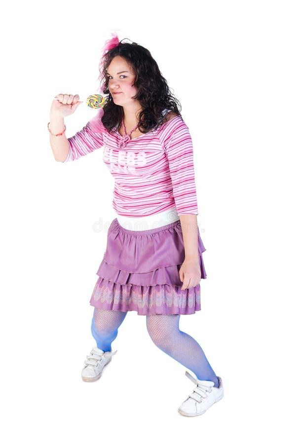 Mädchen mit Lutscher lizenzfreie stockfotos