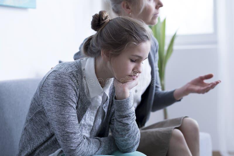 Mädchen mit Problemen stockbild