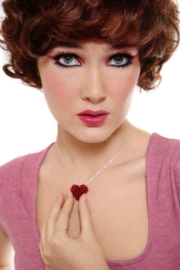 Mädchen mit sparkly Innerem stockfoto