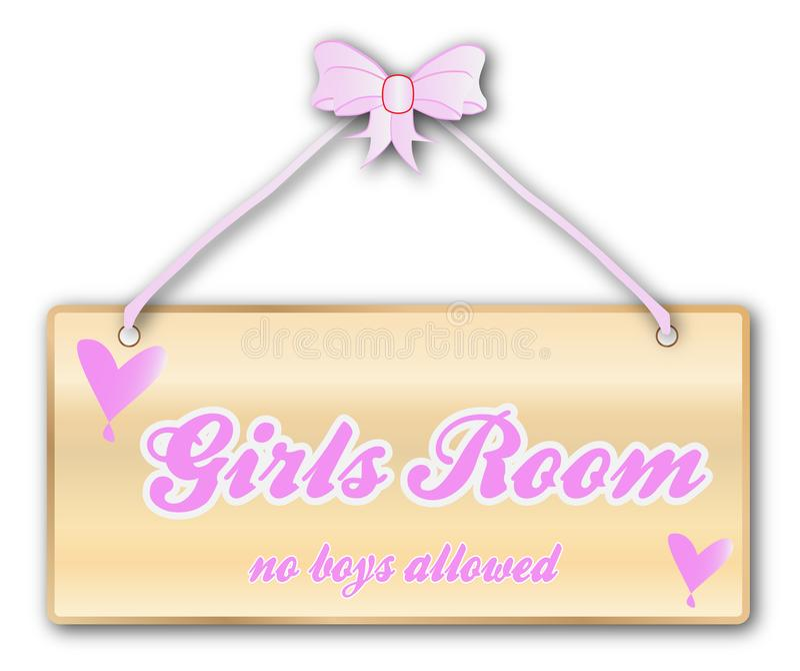 Mädchen-Raum-Zeichen vektor abbildung
