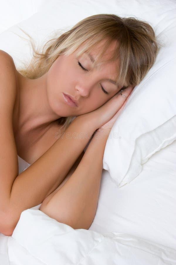 Mädchen-Schlafen stockfotos