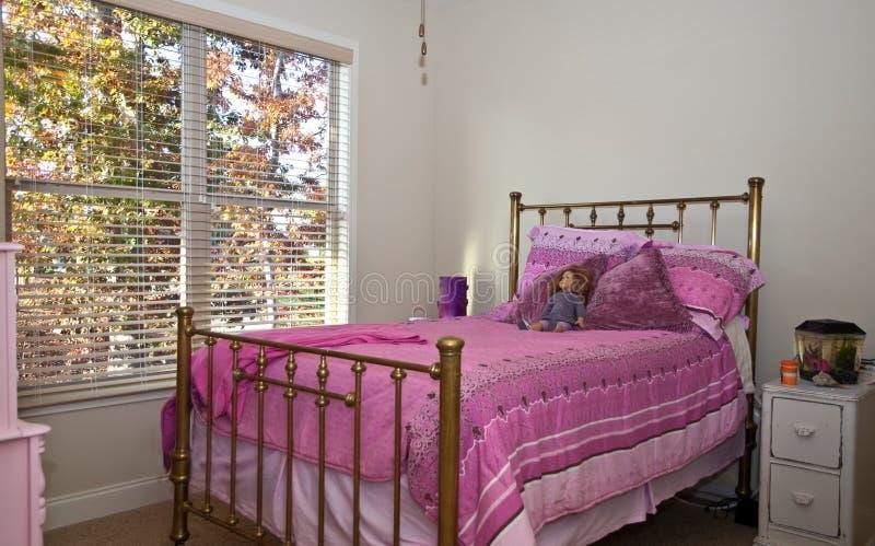 Mädchen-Schlafzimmer lizenzfreies stockbild