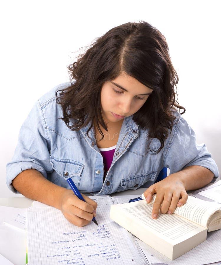 Mädchen-Schreiben lizenzfreies stockfoto