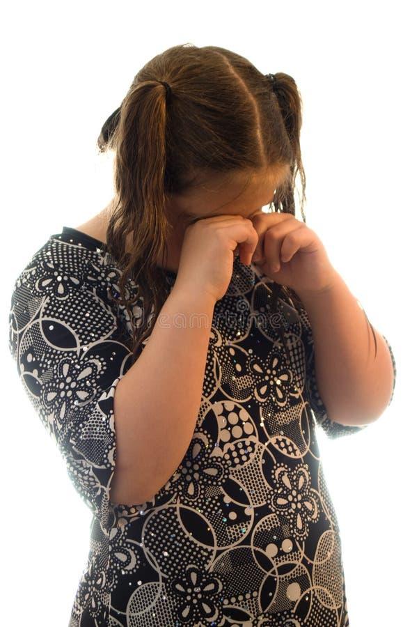 Mädchen-Schreien stockbild