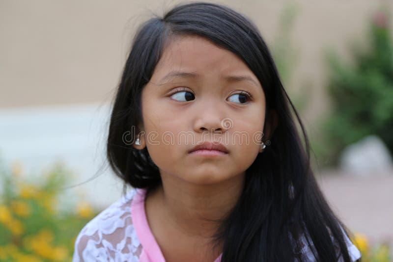 Mädchen traurig stockbild