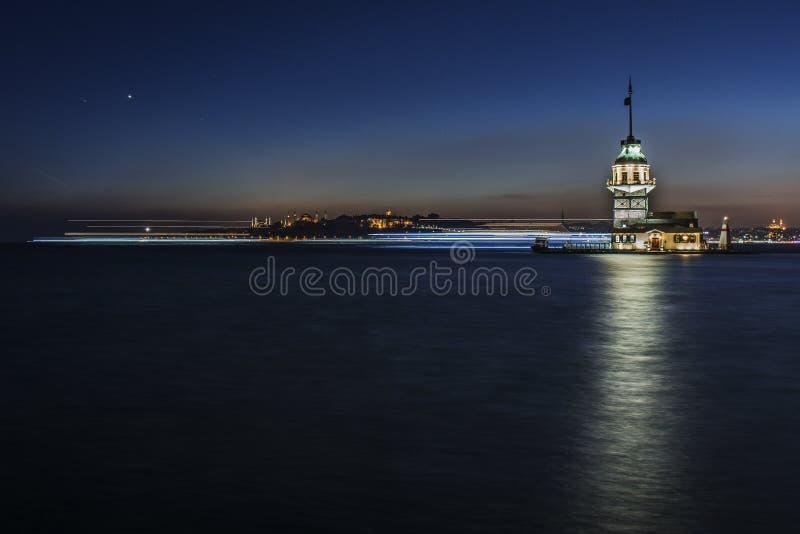 Mädchen-Turm in Istanbul Bosphorus lizenzfreie stockbilder