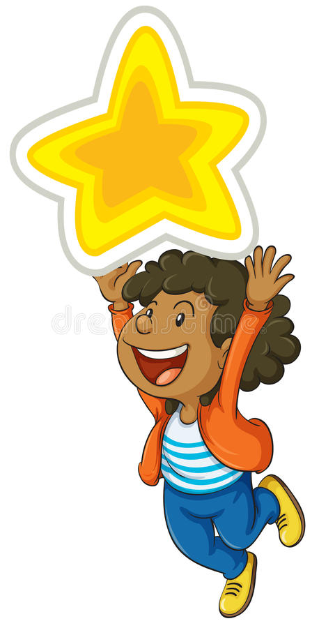 Download Mädchen und Stern vektor abbildung. Illustration von glücklich - 26352251