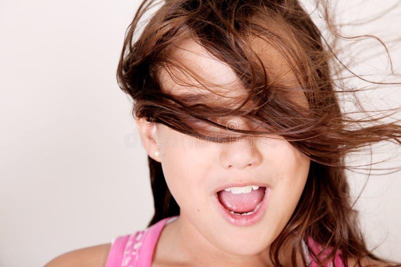 Mädchen und Wind lizenzfreies stockbild