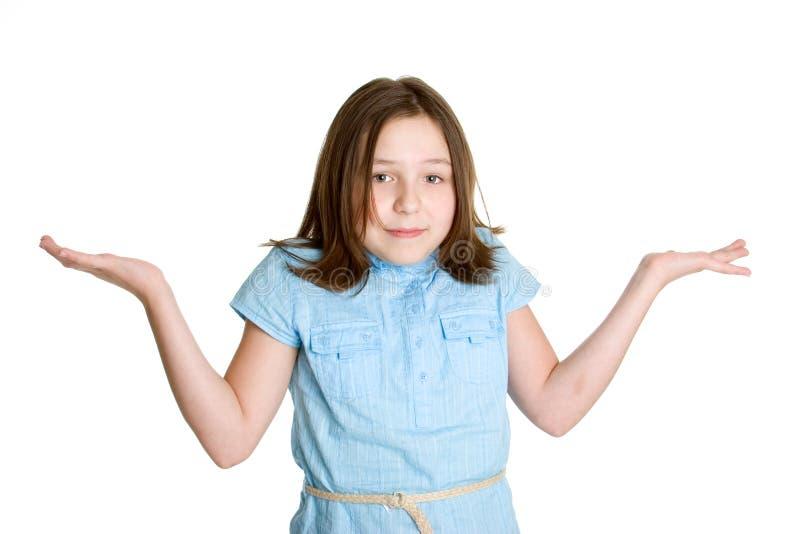 Mädchen-Zucken lizenzfreie stockfotos