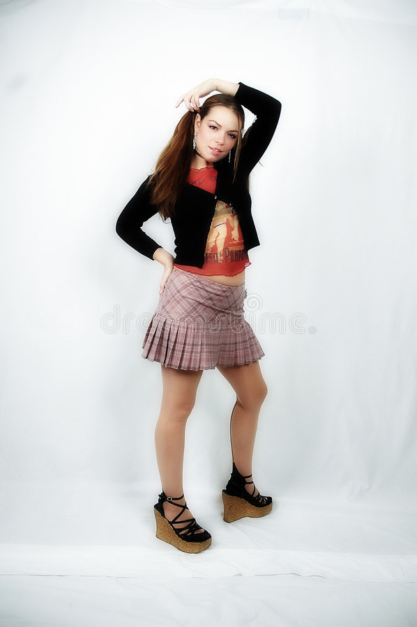 Download Mädchenaufstellung stockfoto. Bild von reizvoll, mädchen - 40032