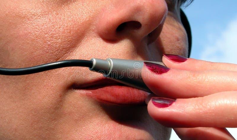 Download Mädchenbediener stockfoto. Bild von finger, führen, industrie - 44094
