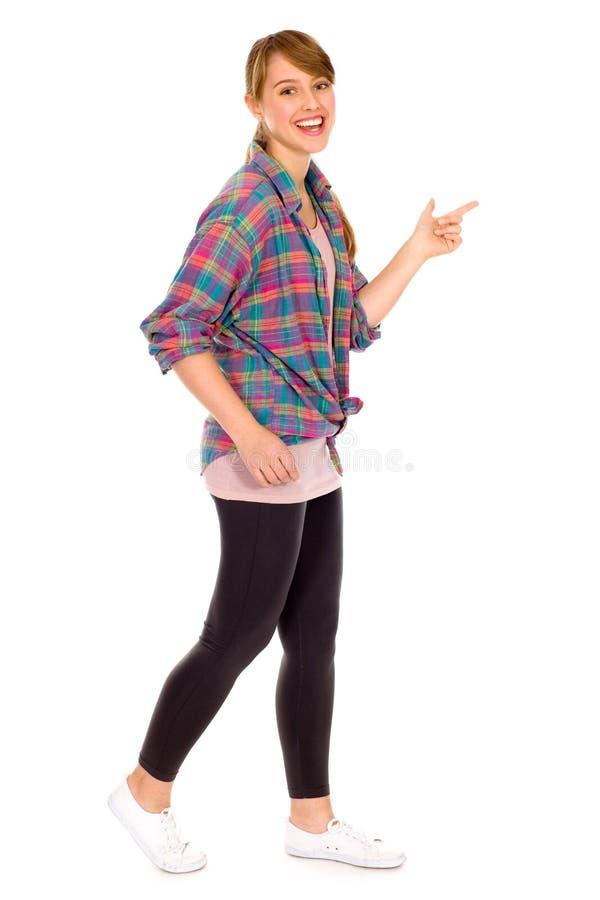 Mädchengehen lizenzfreie stockbilder