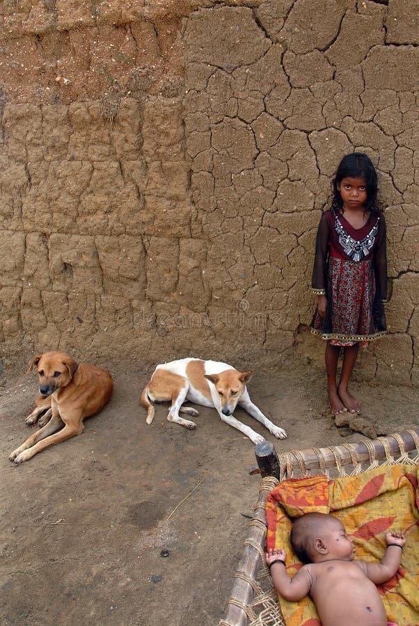 Mädchenkind in Indien stockfoto
