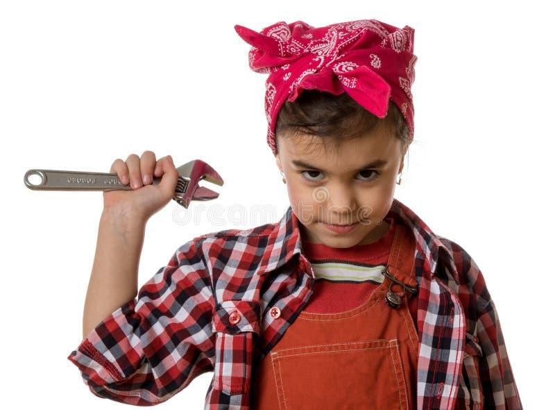 Mädchenmechaniker lizenzfreies stockbild