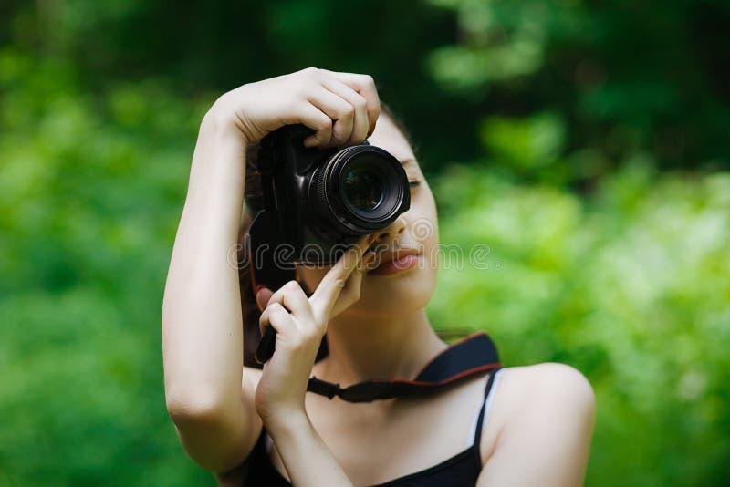 Mädchenphotograph stockbilder