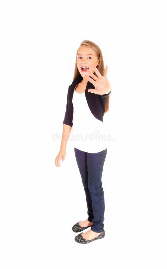 Mädchensagens nein stockbilder