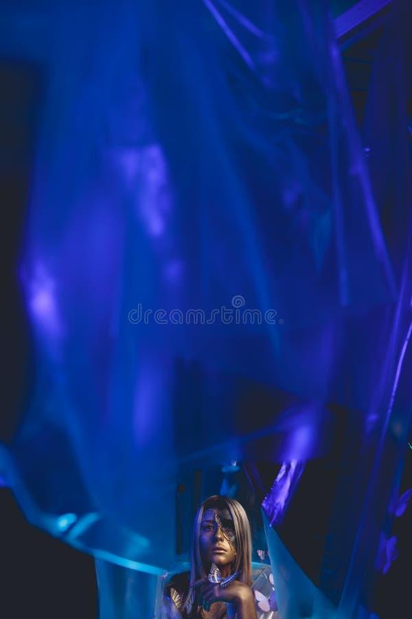 Mädchenschmetterlingskunst stockfoto