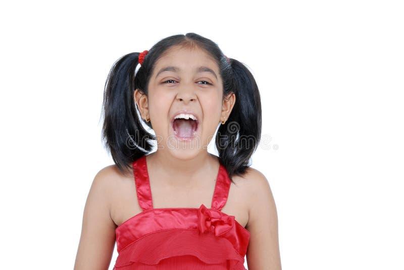 Mädchenschreie stockfotografie