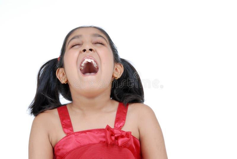 Mädchenschreie lizenzfreie stockbilder