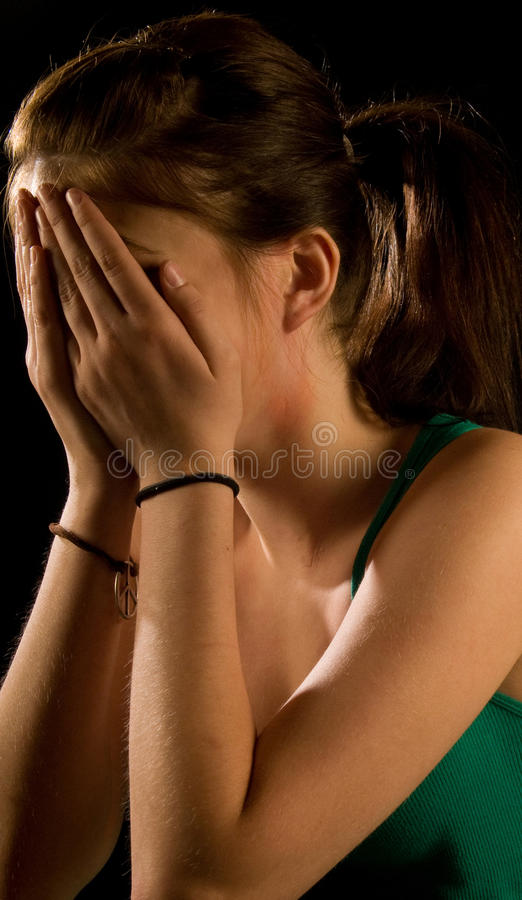 Mädchenschreien lizenzfreie stockfotos