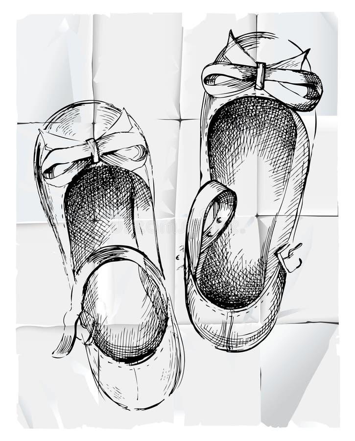 Mädchenschuhe vektor abbildung