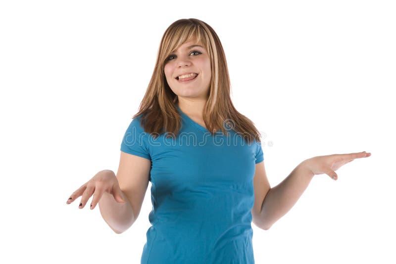 Mädchentanzen lizenzfreie stockbilder