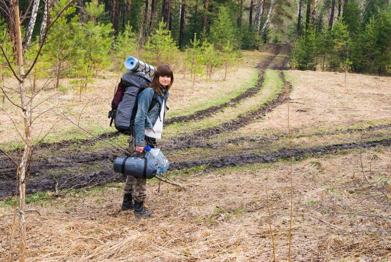 Mädchentourist lizenzfreie stockbilder