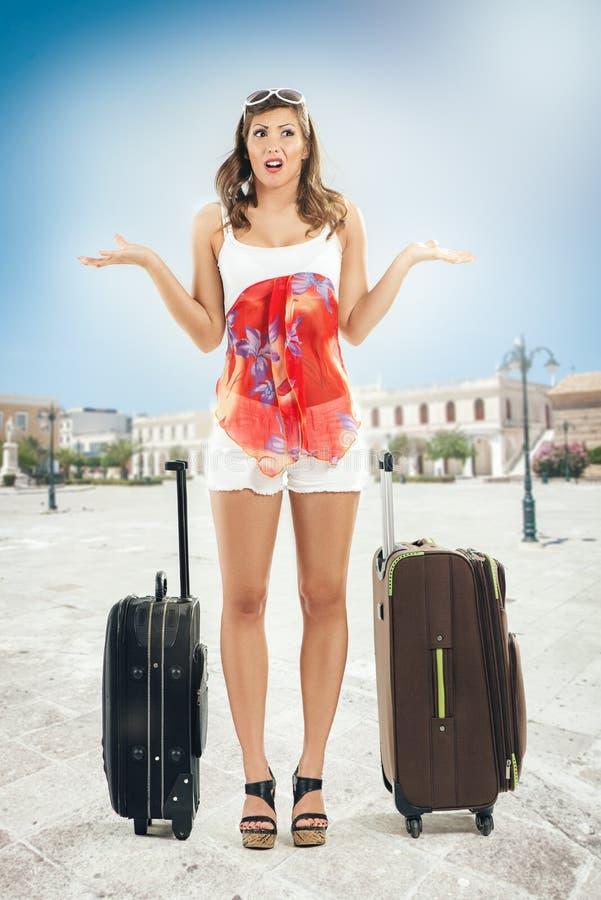 Mädchentourist lizenzfreies stockbild