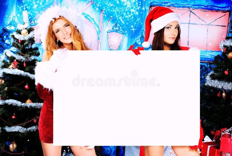 Mädchenweihnachten lizenzfreie stockfotos