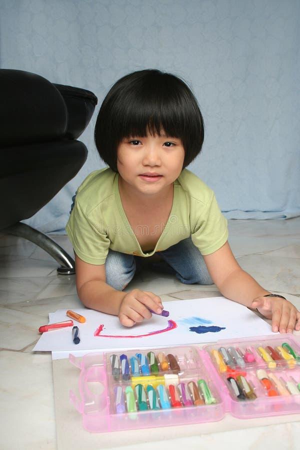 Mädchenzeichnung lizenzfreie stockbilder