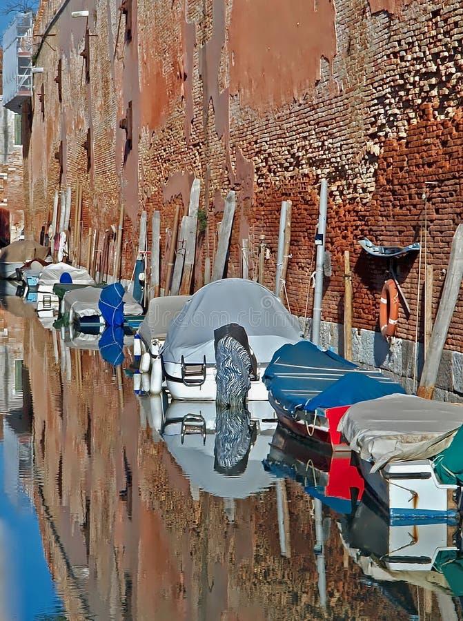 Mäktiga Arsenale i Venedig fotografering för bildbyråer