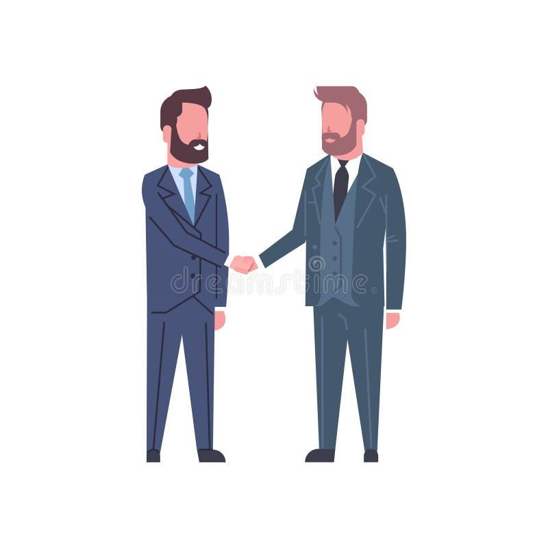 Män för affär för handskakabegrepp som två skakar överenskommelse eller avtal för handpartners lyckad stock illustrationer