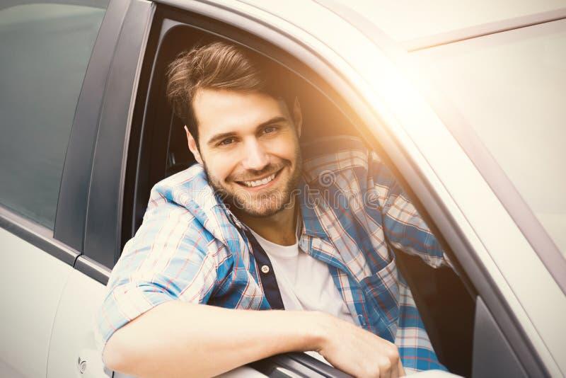 Män i en bil royaltyfri bild