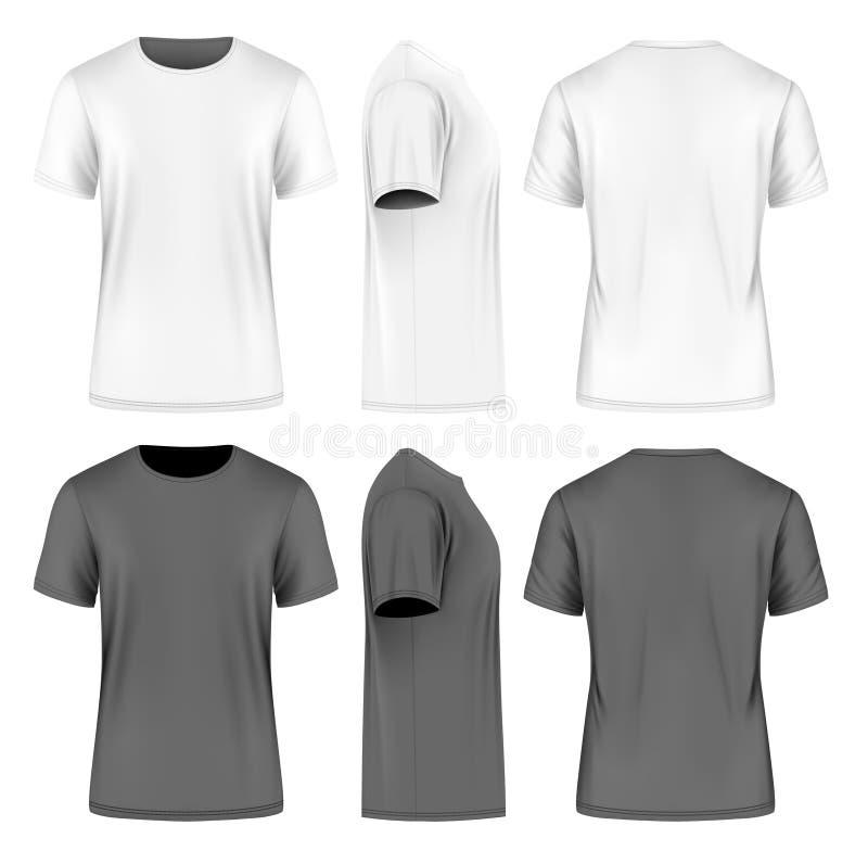 Män kortsluter mufft-skjortan vektor illustrationer
