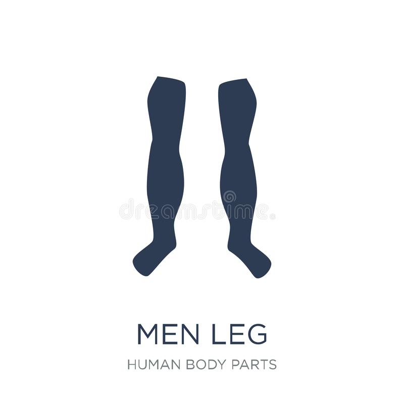 Män lägger benen på ryggen symbolen Moderiktiga plana vektormän lägger benen på ryggen symbolen på vit backgroun royaltyfri illustrationer