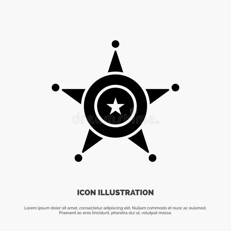 Män polisen, stjärna, för skårasymbol för USA fast vektor royaltyfri illustrationer