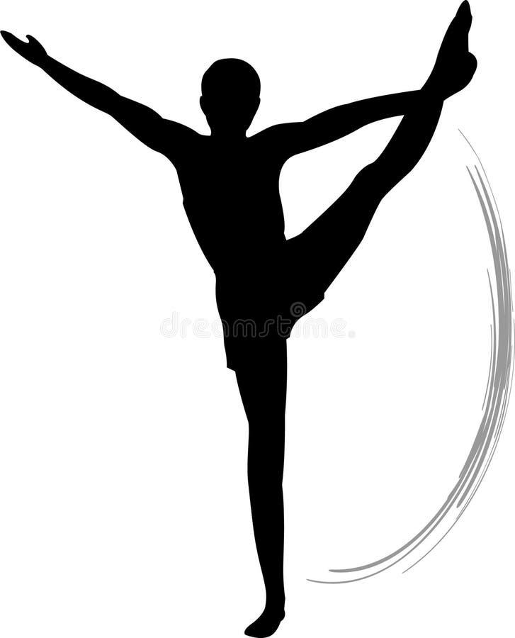 män s för övningsgolvgymnastik royaltyfri illustrationer