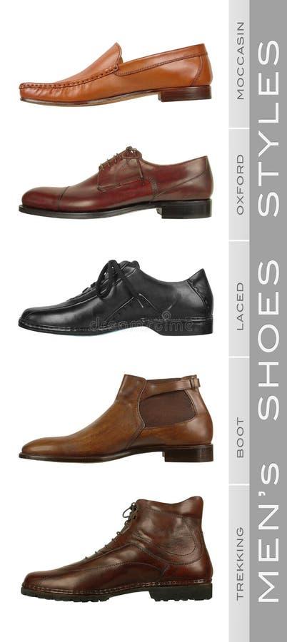 män s shoes stilar royaltyfria foton