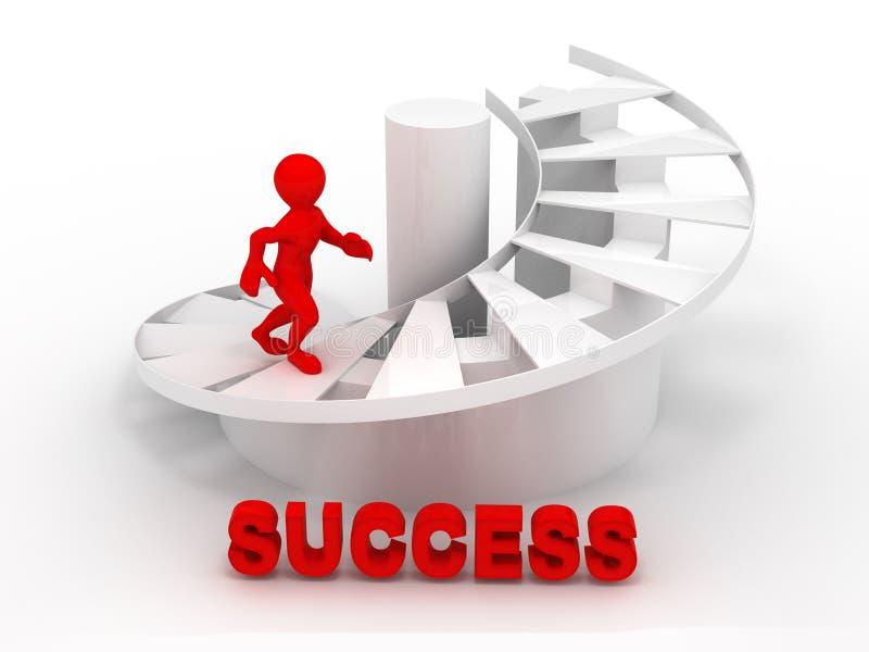 Männer auf Treppen. Erfolg lizenzfreie abbildung