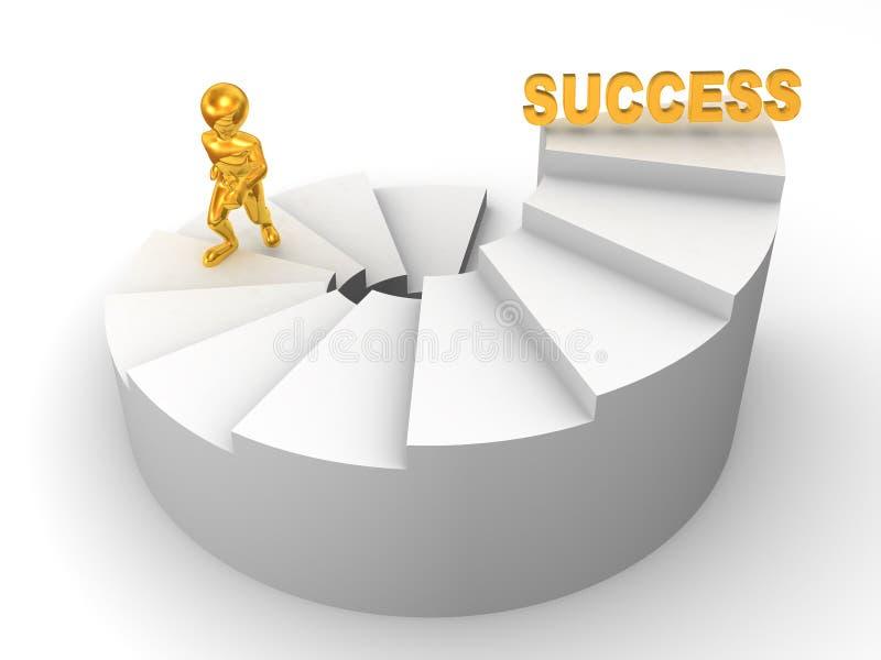 Männer auf Treppen. Erfolg 3d vektor abbildung