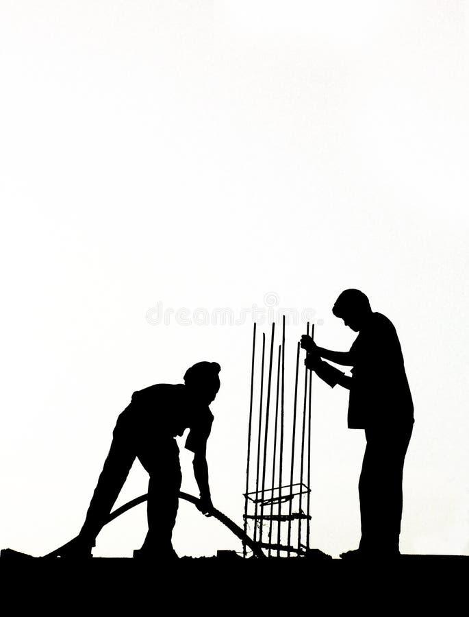 Männer bei der Arbeit lizenzfreie stockbilder