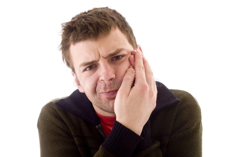 Männer in den Schmerz stockfotos
