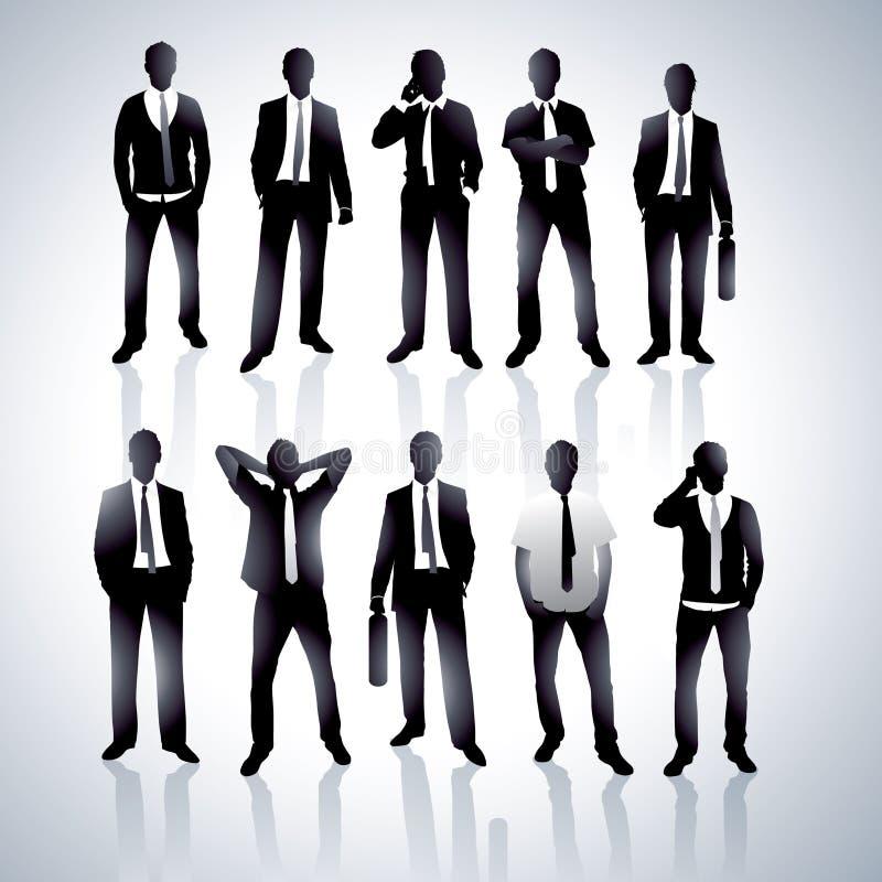 Männer in den schwarzen Klagen lizenzfreie abbildung