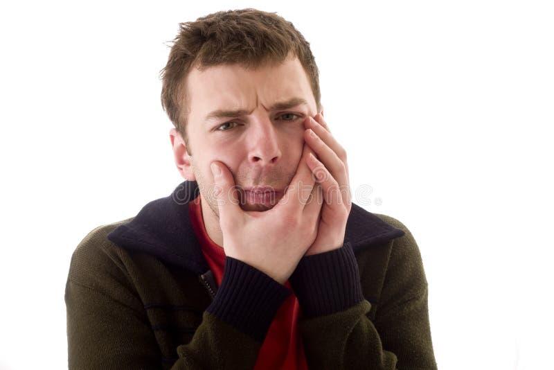Männer in den Zahnschmerz lizenzfreies stockbild