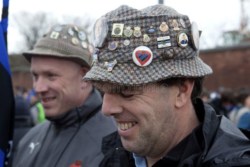 Männer, die Hüte, Belgien tragen lizenzfreie stockfotos