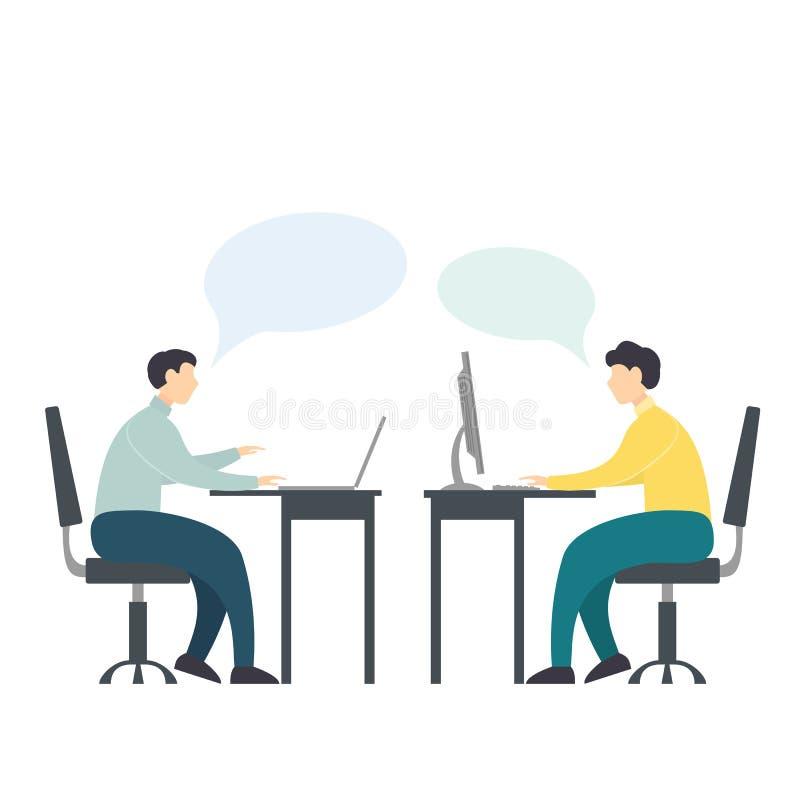 Männer mit Computern lizenzfreie abbildung