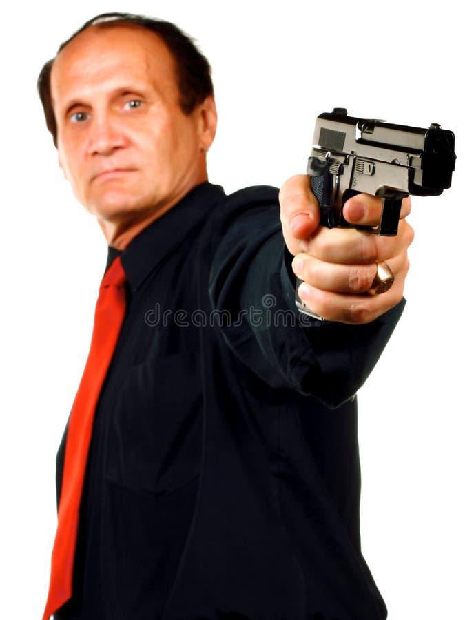 Männer mit Gewehr stockbild