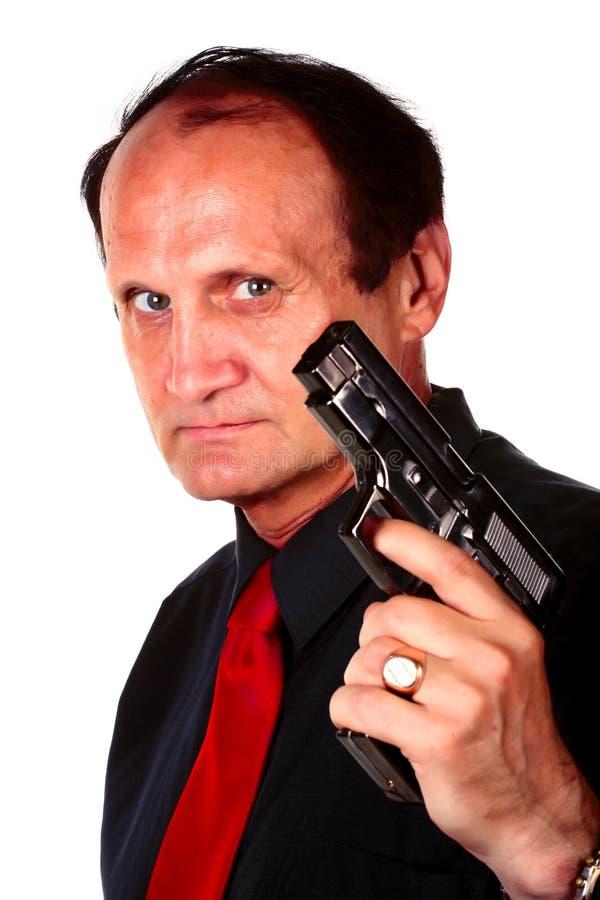 Männer mit Gewehr lizenzfreie stockfotos